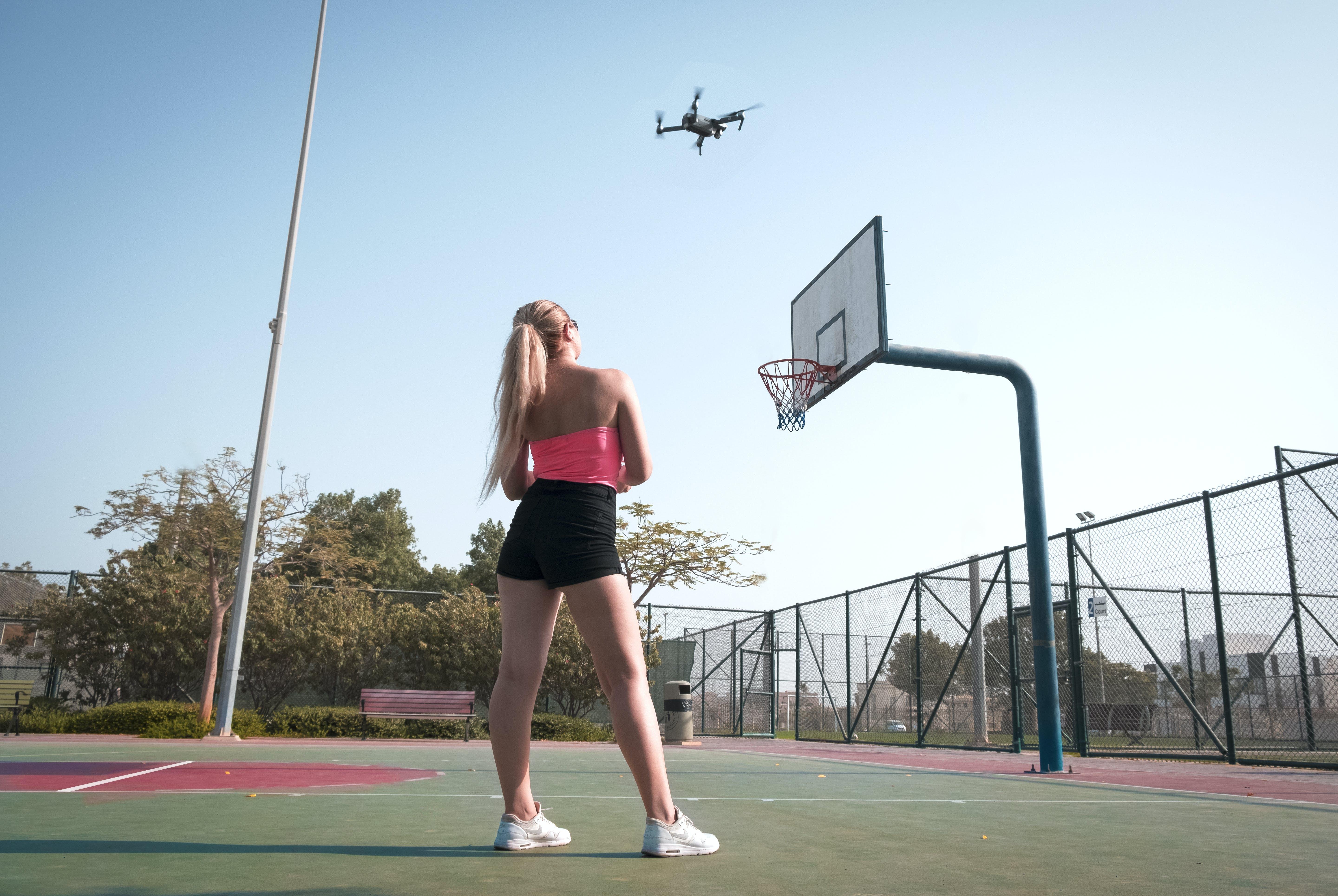 Kostenloses Stock Foto zu basketball, basketball platz, dji, dji mavic