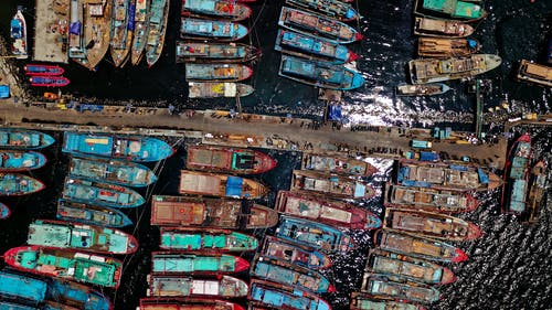 Shipping Docks Aerial Photography