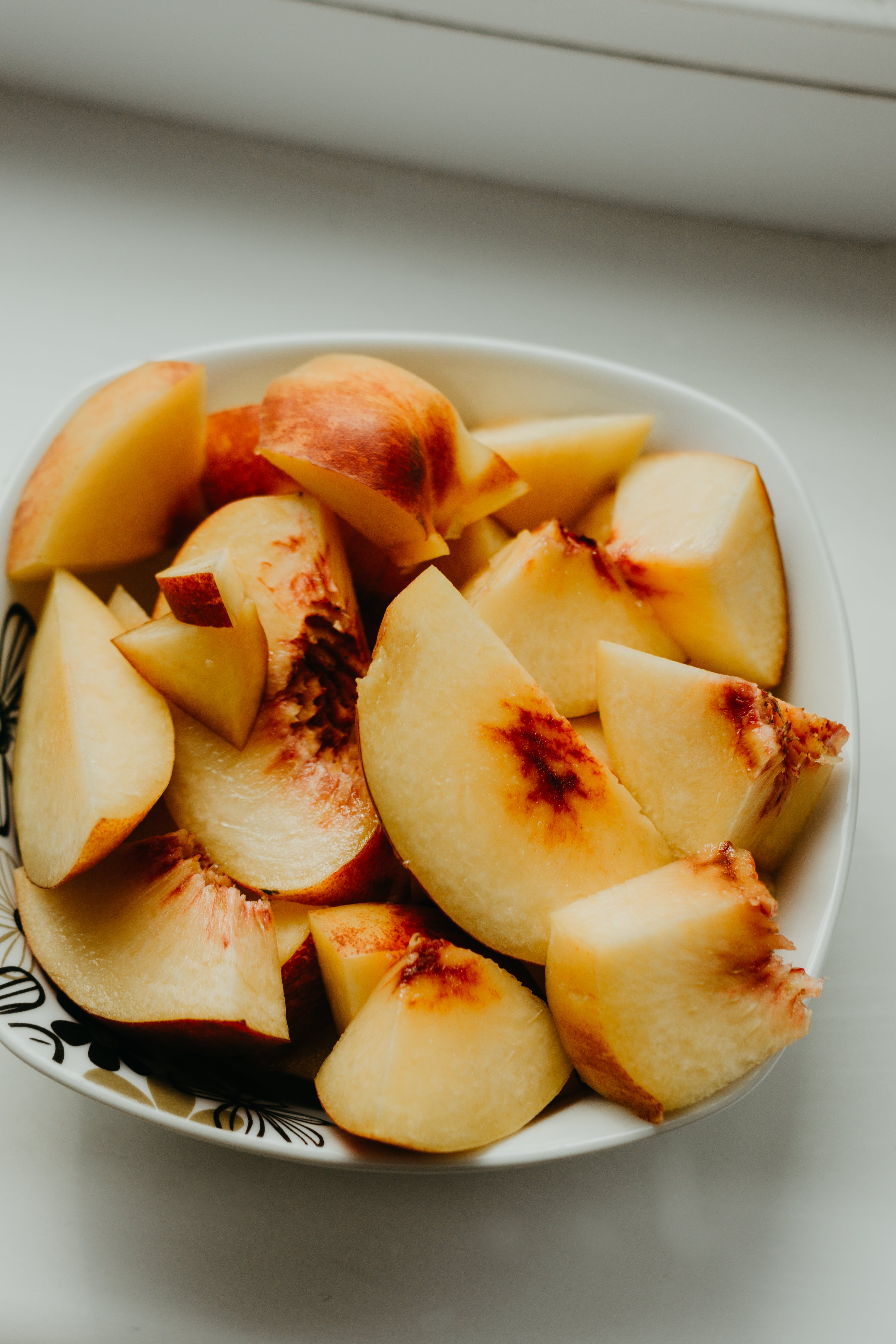 Sliced Apple Fruit on White Plate