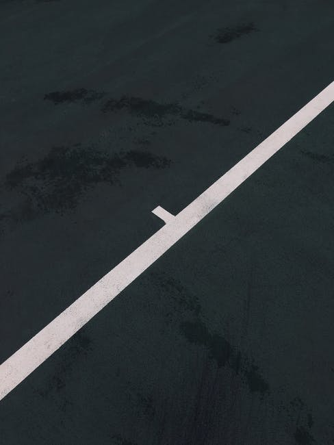 Black and white concrete dark line