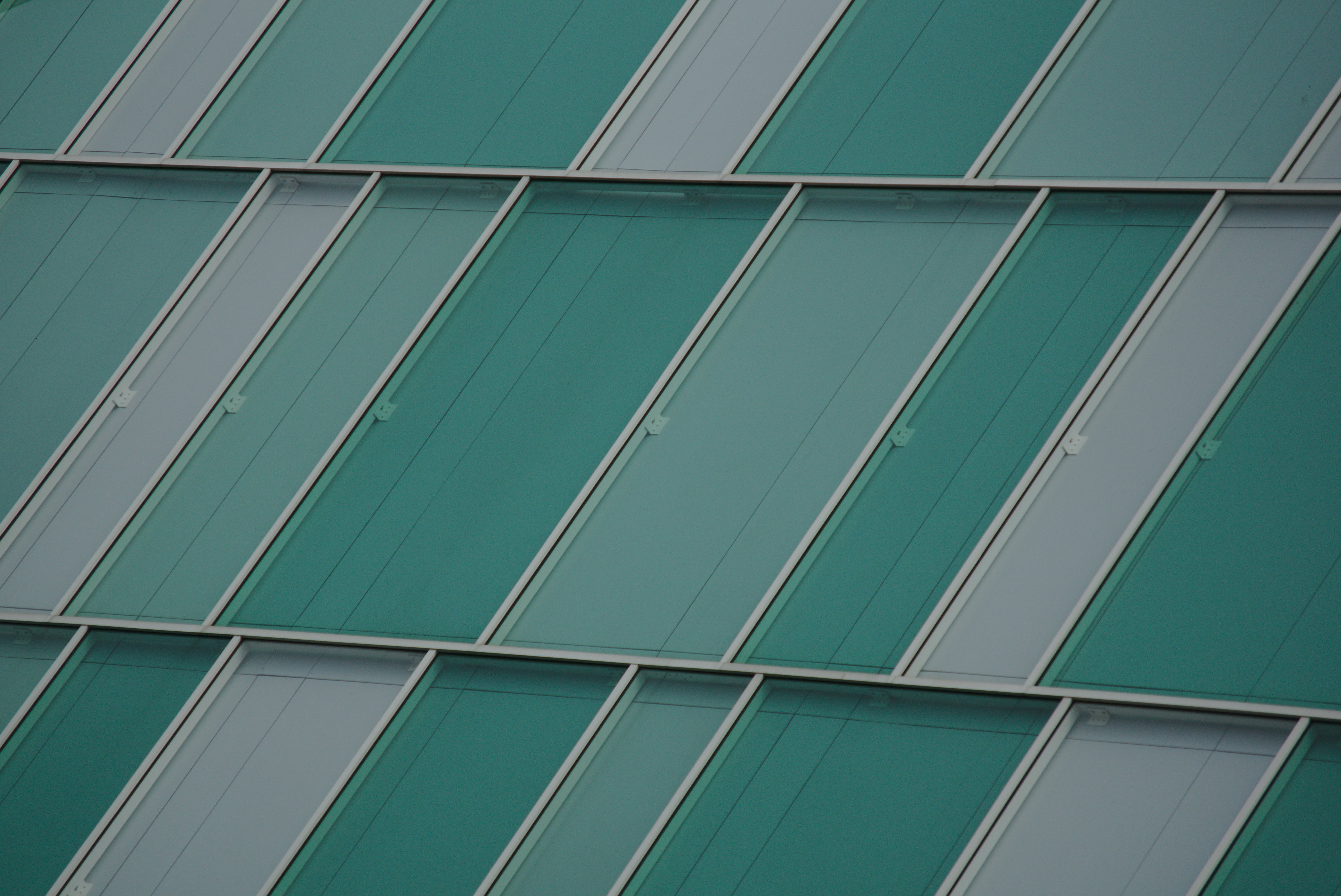 Rectangular Green and Clear Glass Panels