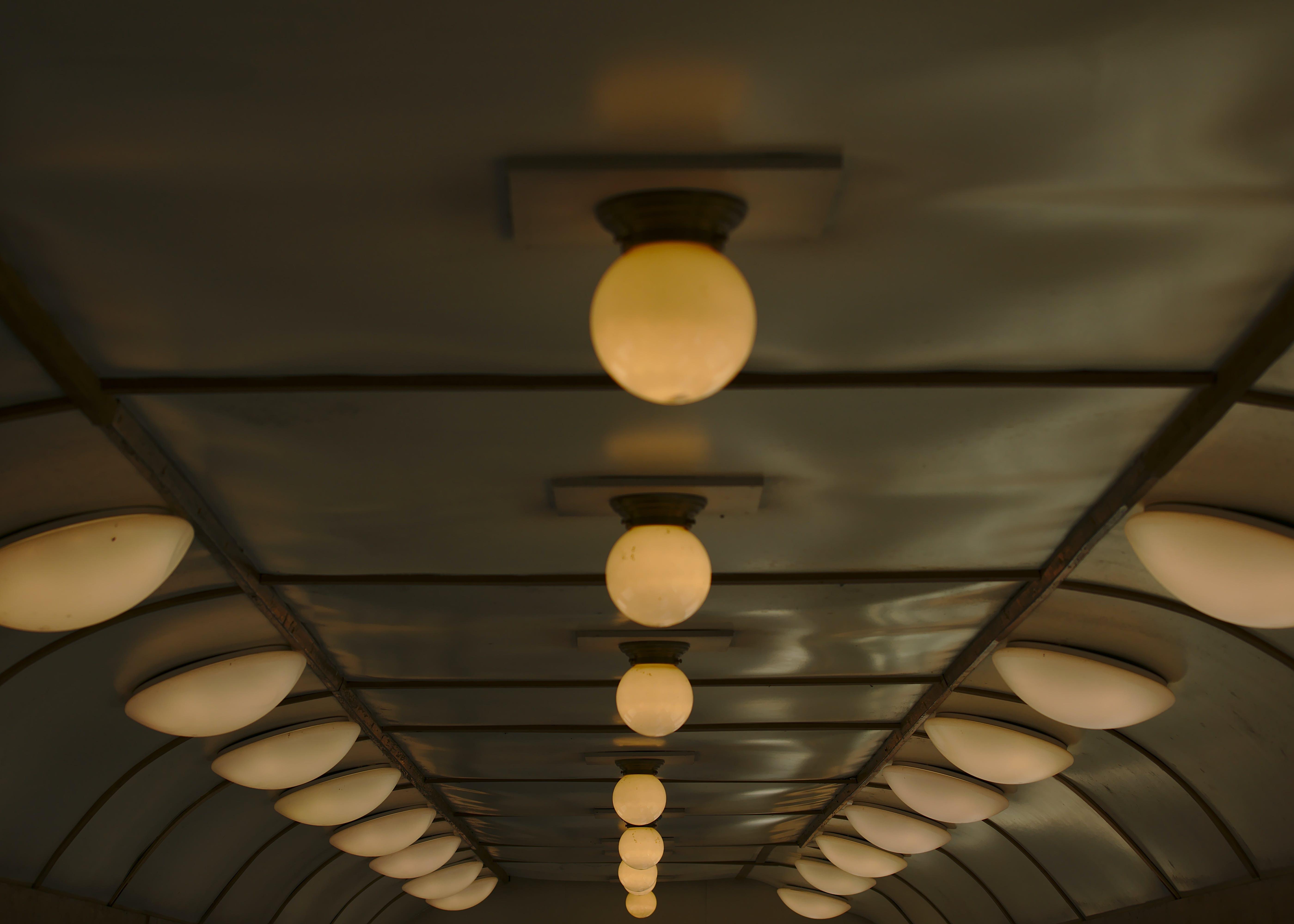 Free stock photo of lights, train, lights in train