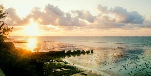 アフリカの日の出, アフリカ系インド洋, ケニア, ビーチでの日の出の無料の写真素材