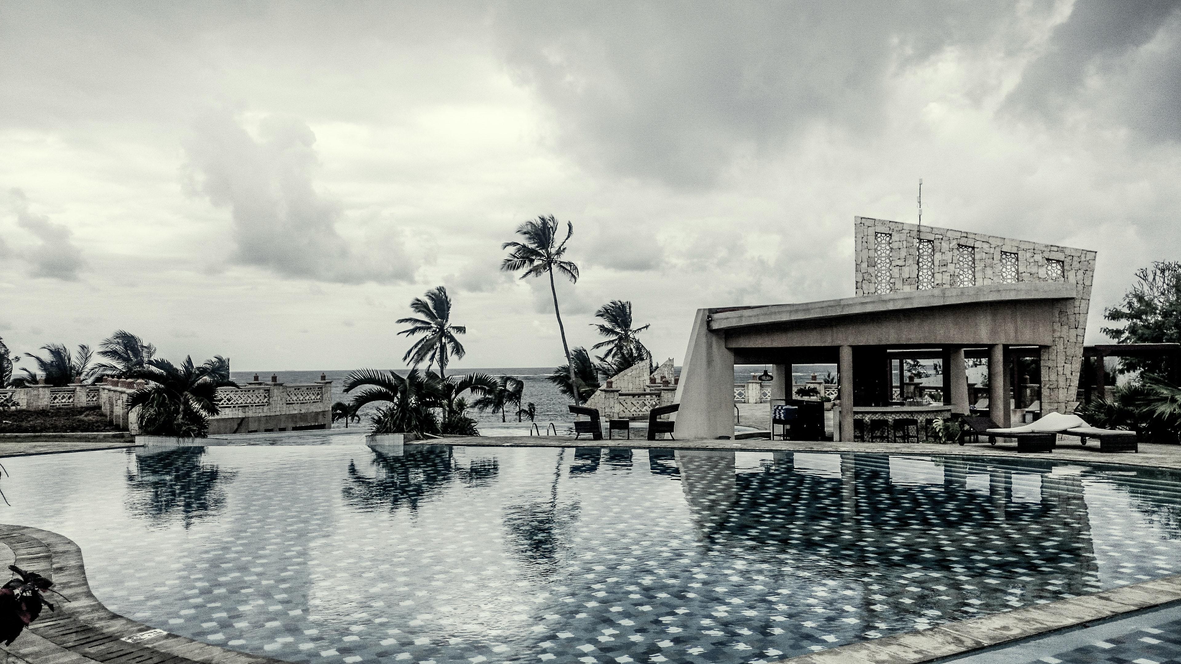 Free stock photo of africa, Black and white hotel swimming pool, Kenya