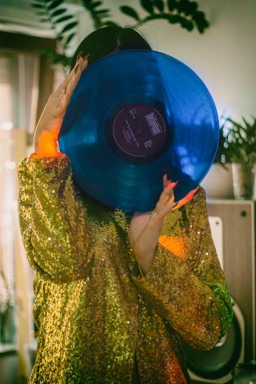 インドア, ゴールド, ビニールレコード, ビンテージの無料の写真素材