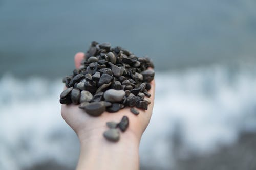 Photo of Person Holding Stones