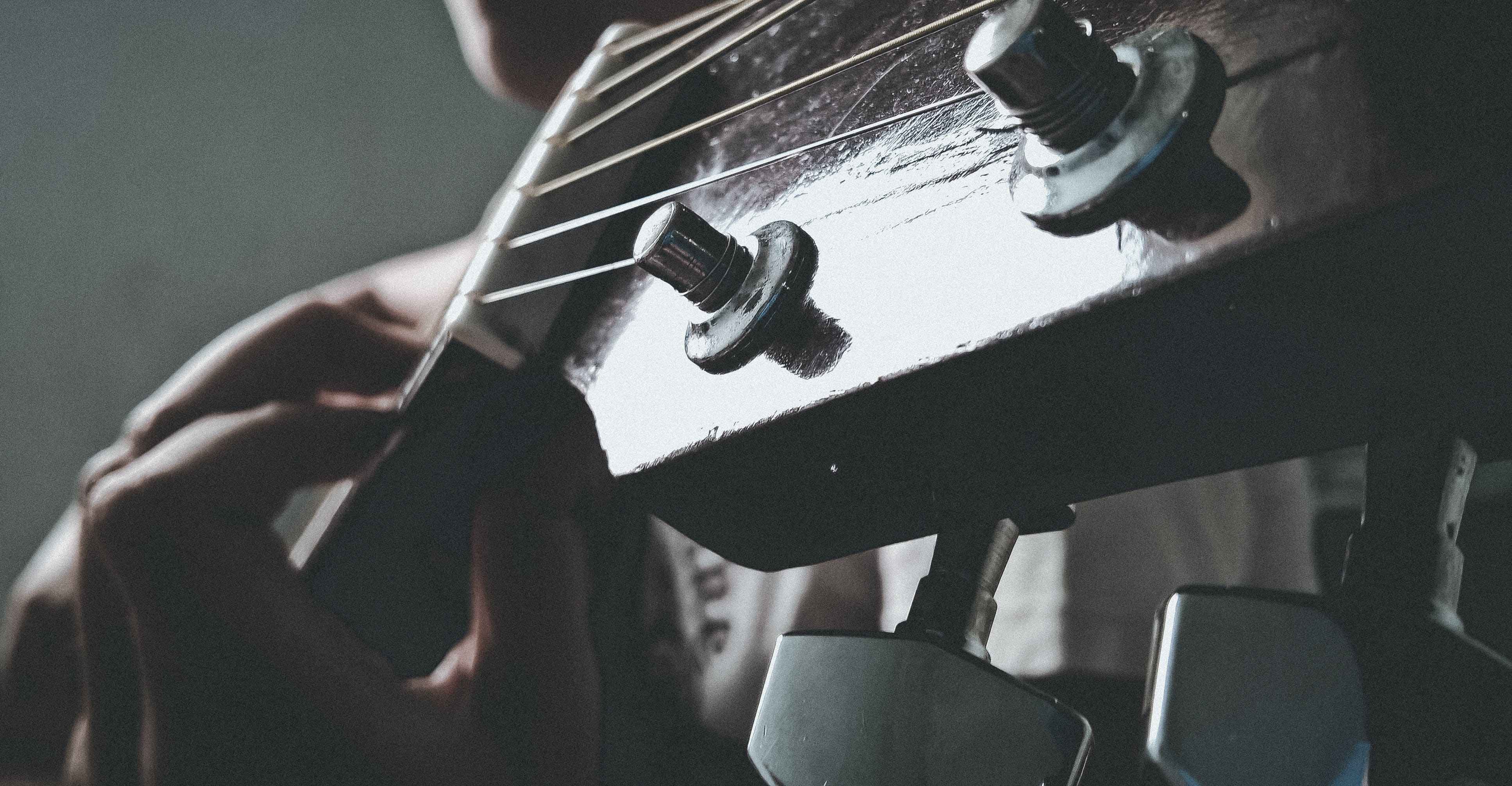 Free stock photo of girl, guitar strings