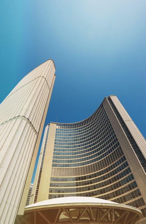 低角度拍攝, 城市, 塔, 多倫多 的 免费素材照片