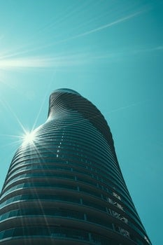 Free stock photo of building, glass, architecture, curves