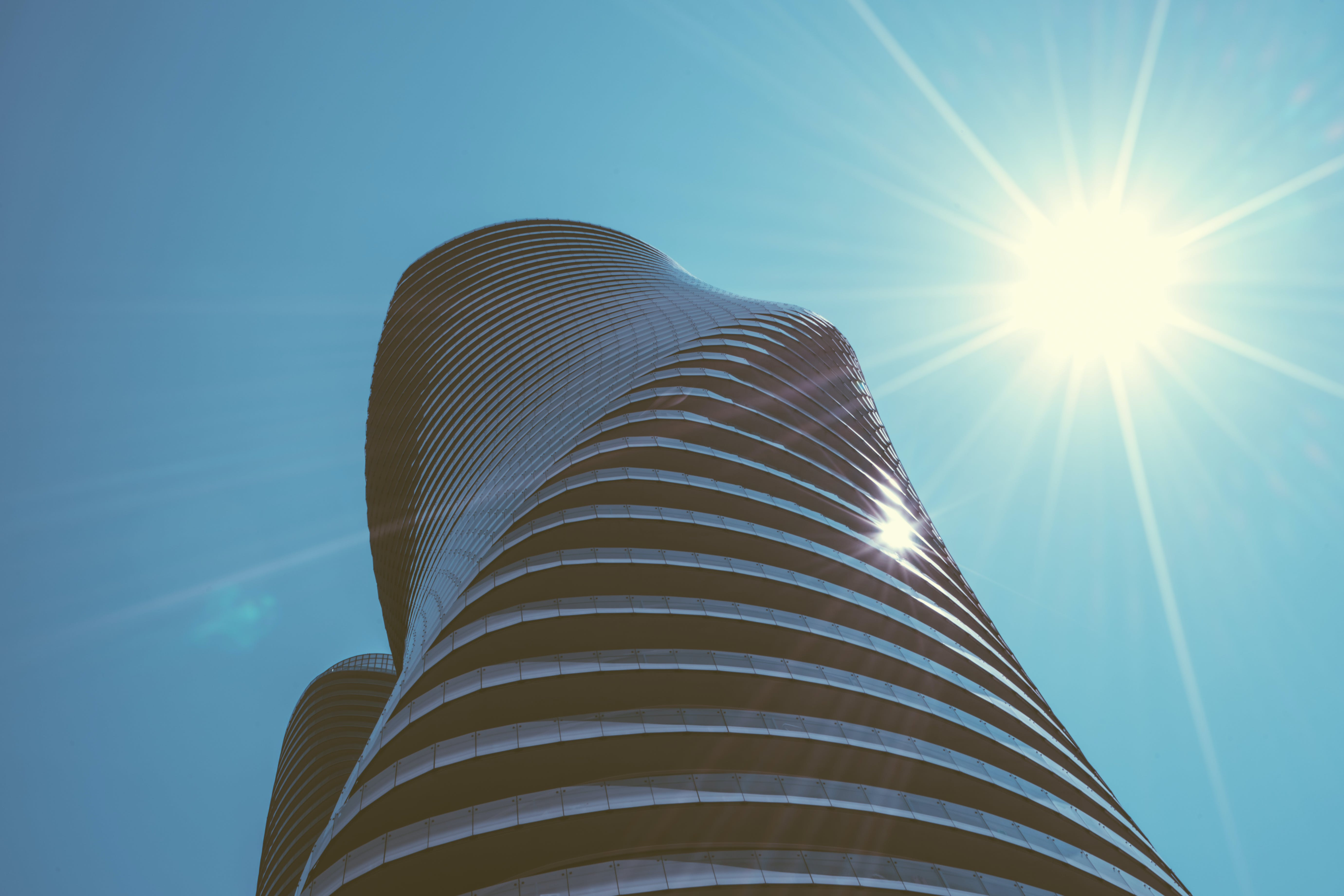 Free stock photo of sky, art, sun, building