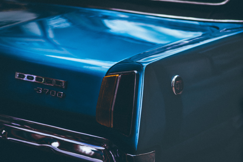 Blue Dodge Damlier 3700 Car
