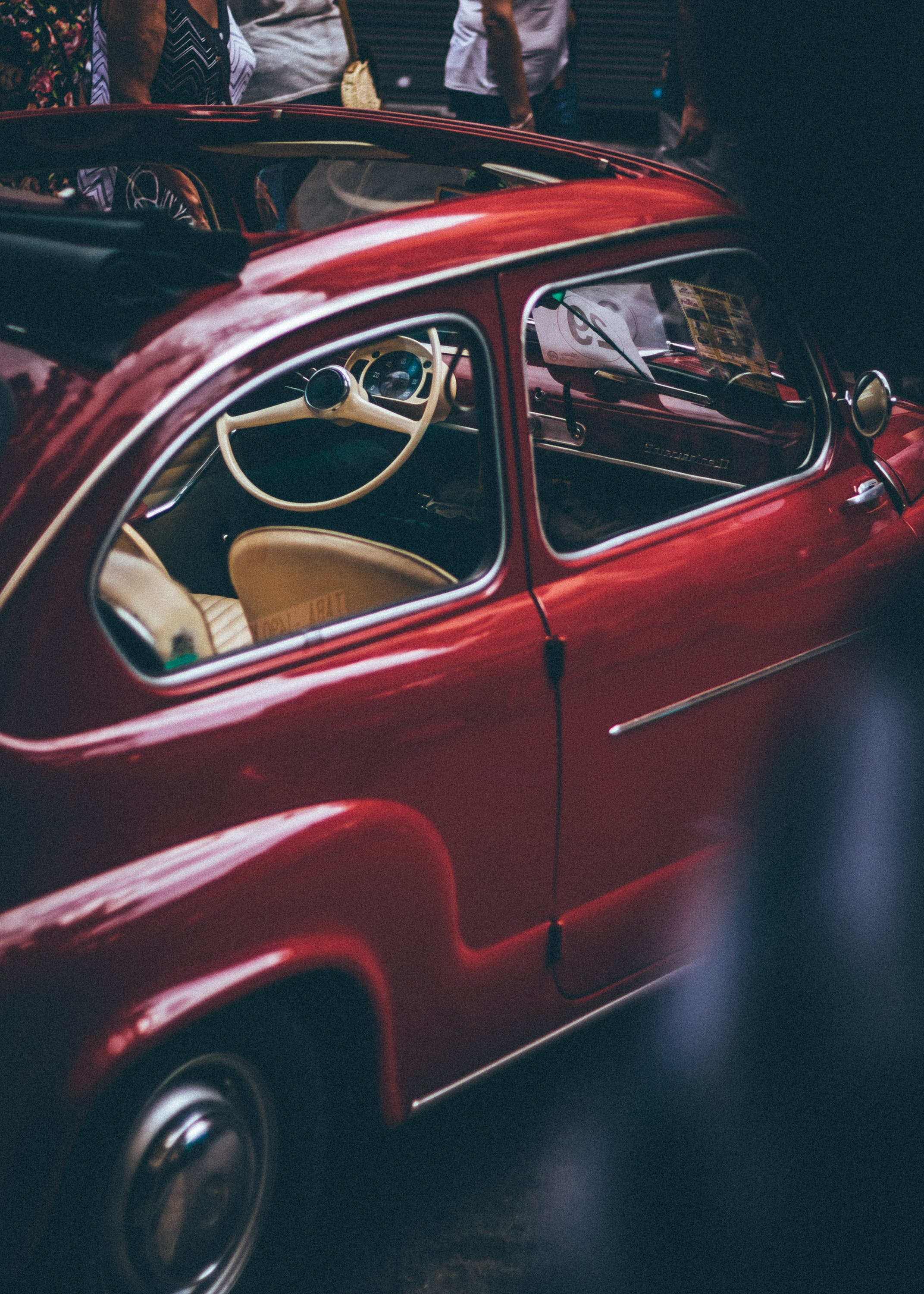 Red Volkswagen Beetle Coupe With Sunroof
