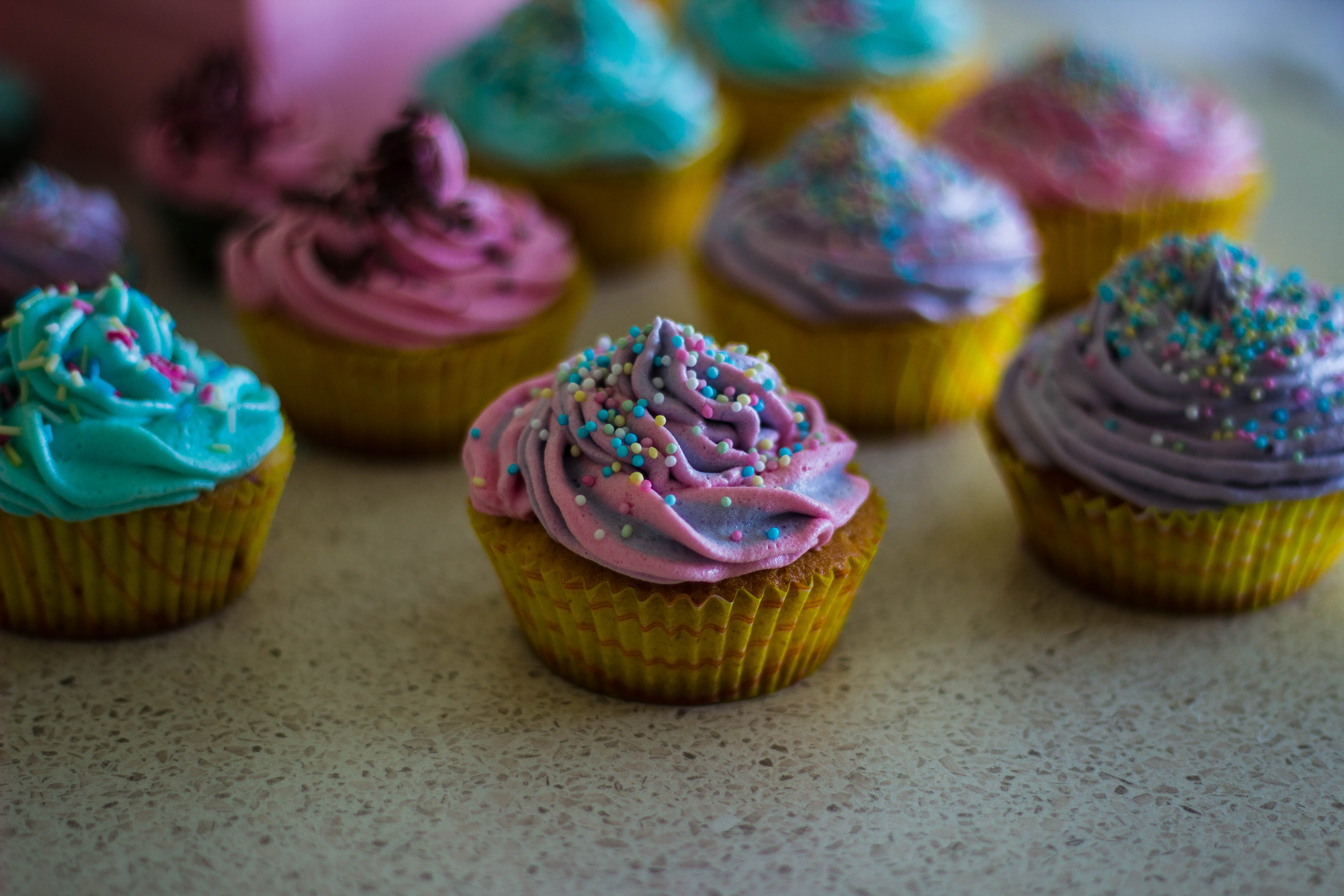 Free stock photo of colorful, colourful, cupcakes, baked goods