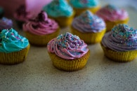 colorful, colourful, cupcakes