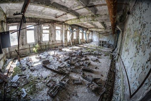 チェルノブイリ, 内部, 廃墟, 建物の無料の写真素材