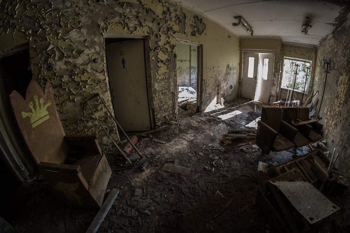 Wrecked House Interior