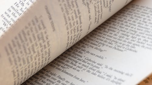 Free stock photo of book pages, macro, novel, reading