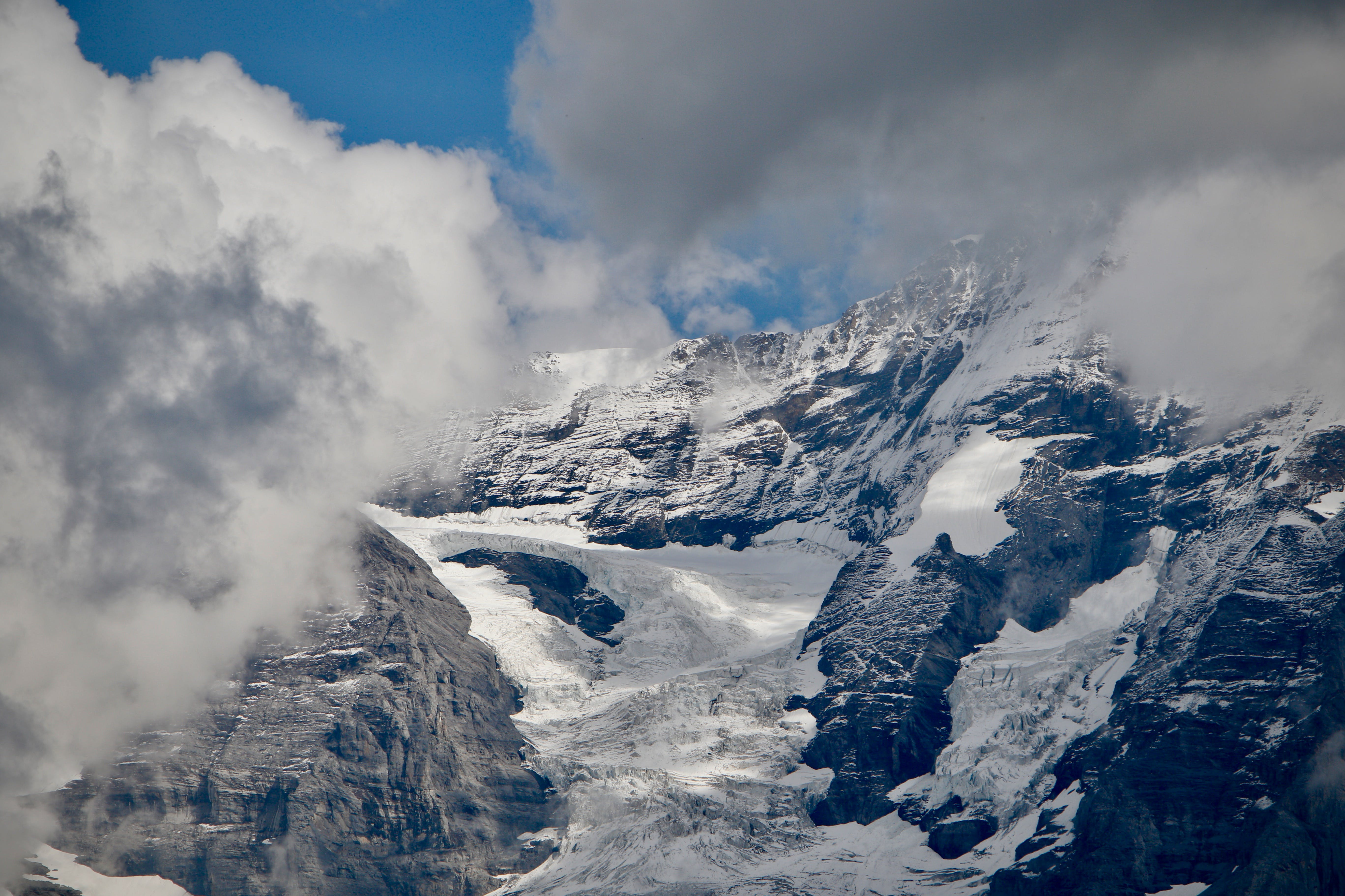 Mountain Covered by Snow
