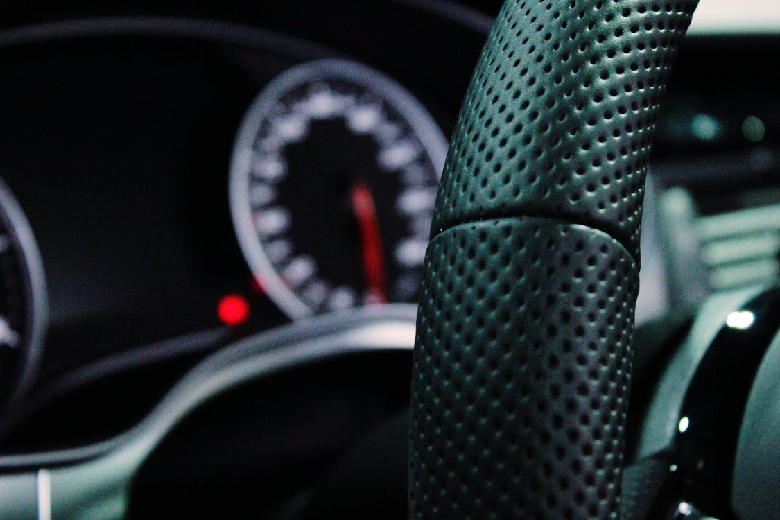 Shallow Depth of Field Photo of Steering Wheel