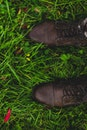 feet, grass, shoes