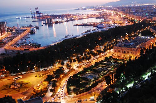 城市, 海港, 西班牙, 马拉加 的 免费素材照片