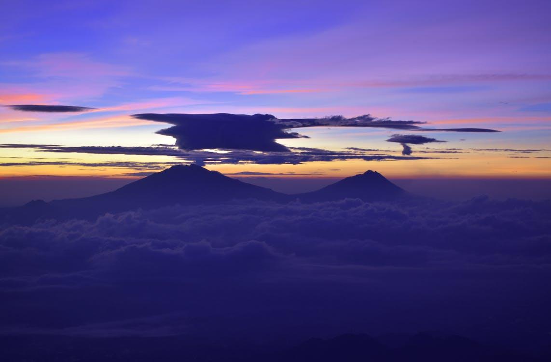 bergen, himmel, landskap