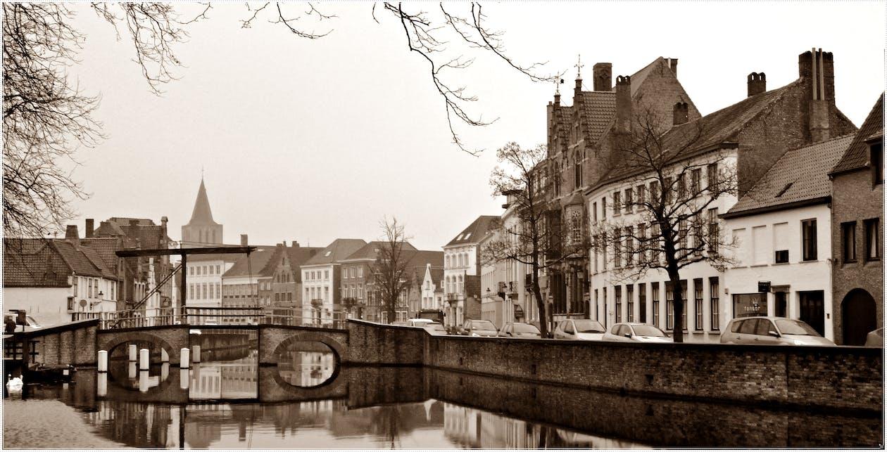 Free stock photo of bridge, cute, small town