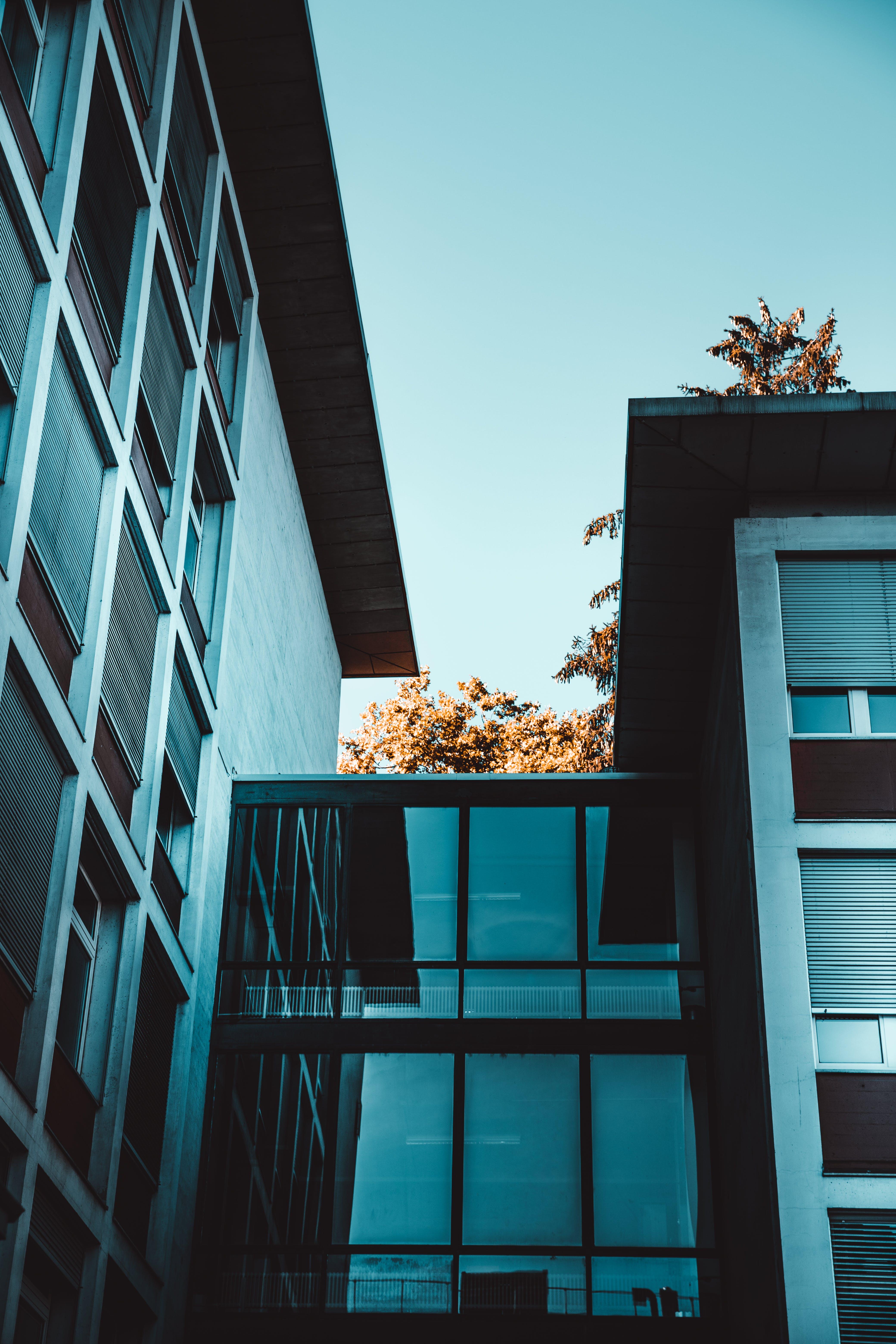 Foto d'estoc gratuïta de acer, arquitectura, articles de vidre, cel