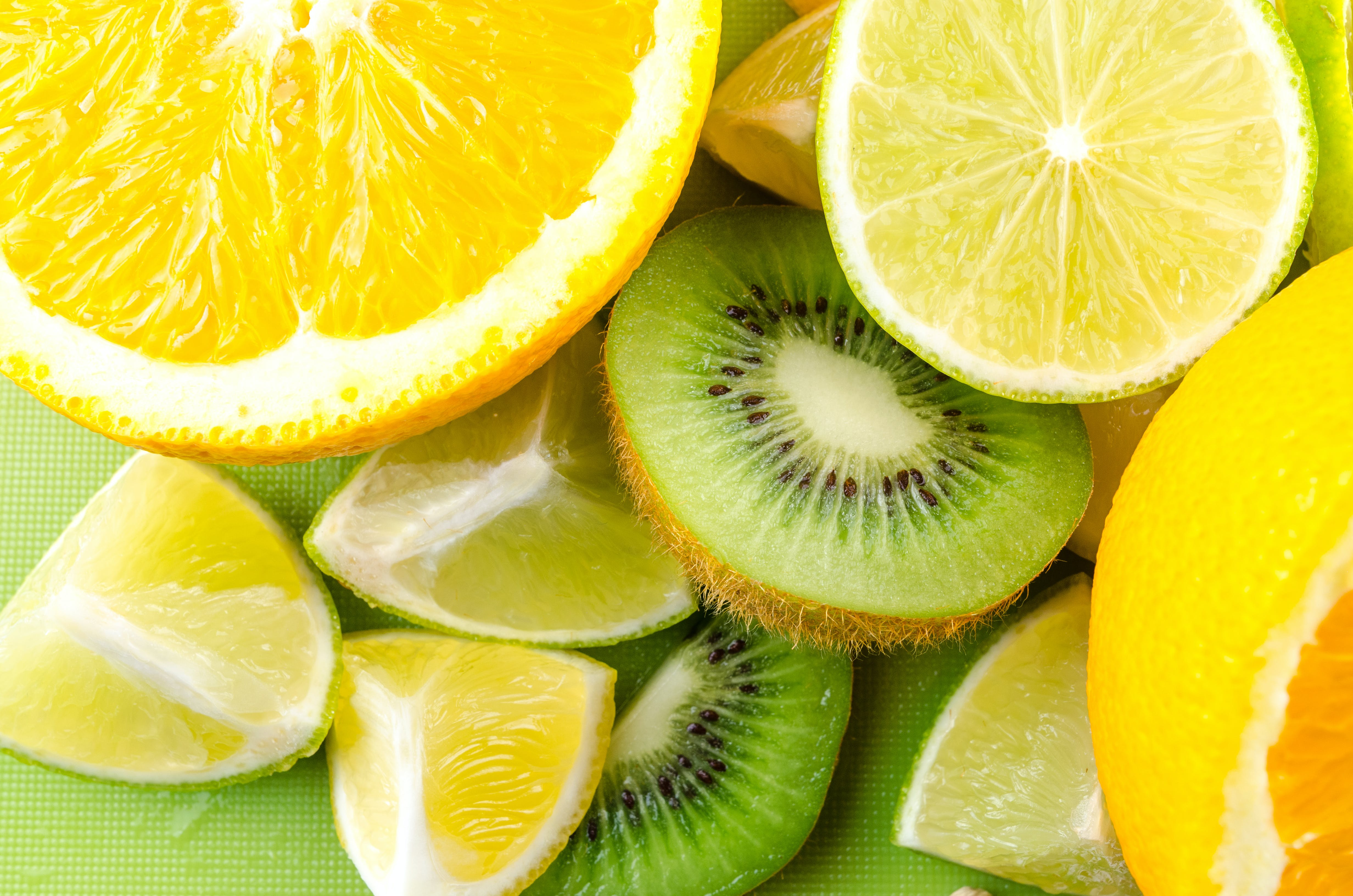 Photo of Sliced Kiwi, Lemon, and Orange Fruits