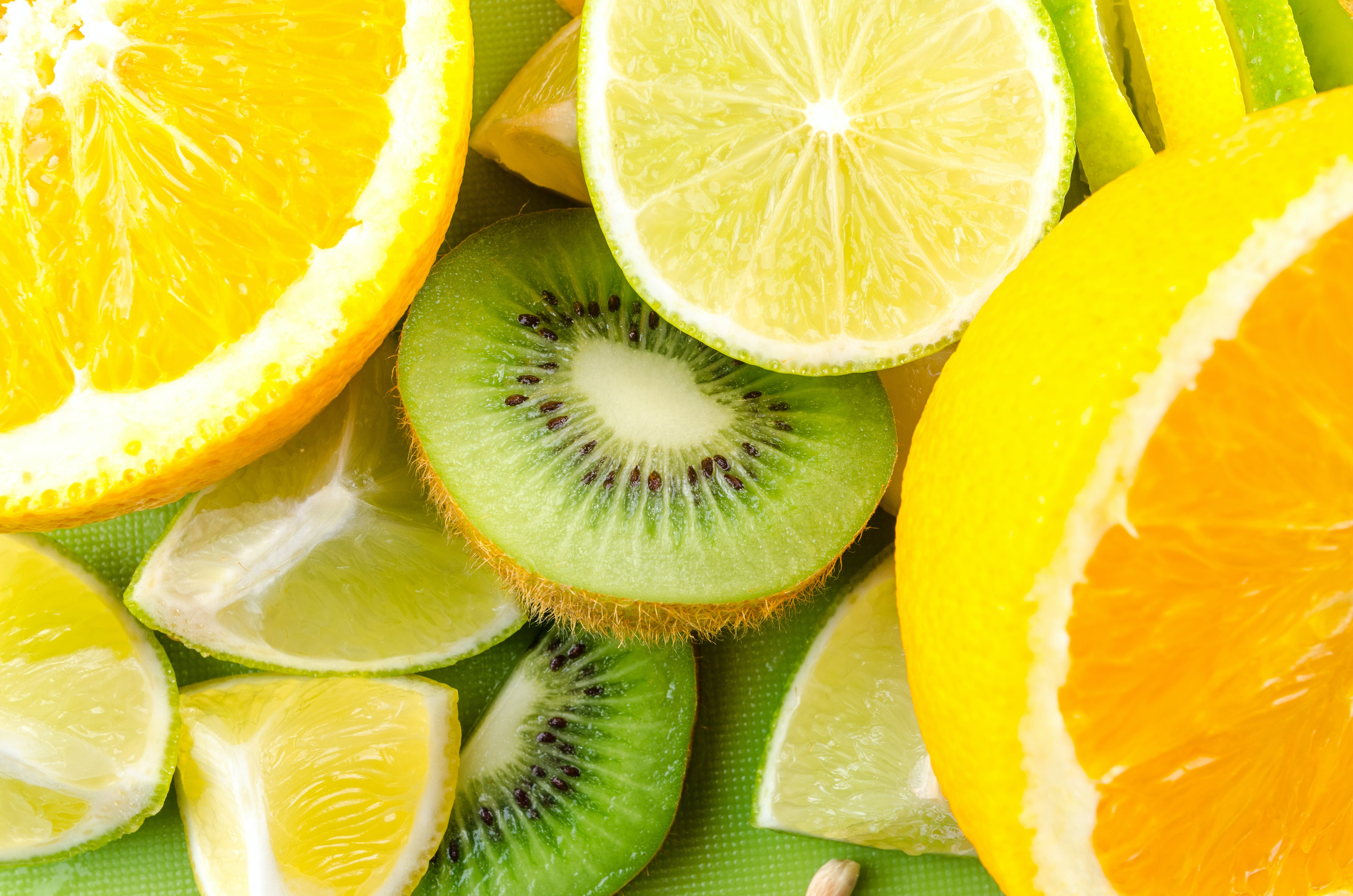 Photo of Sliced Kiwi, Lemon, and Orange Fruits
