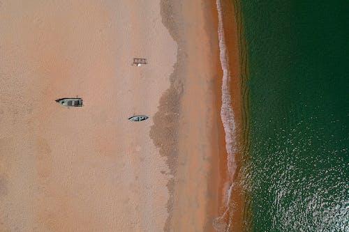 공중 촬영, 모래, 물, 바다의 무료 스톡 사진