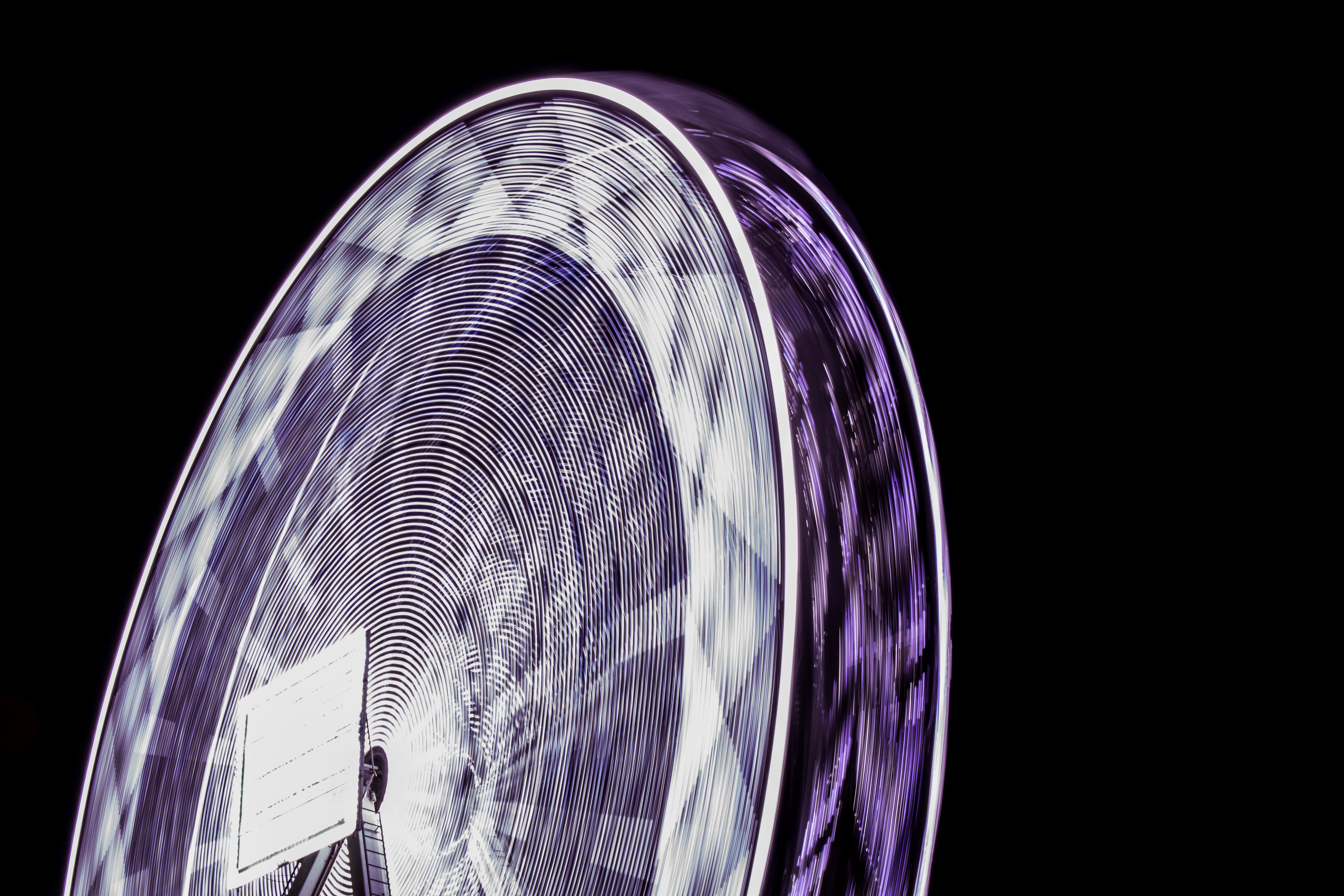 Free stock photo of night, speed, spinning, violet