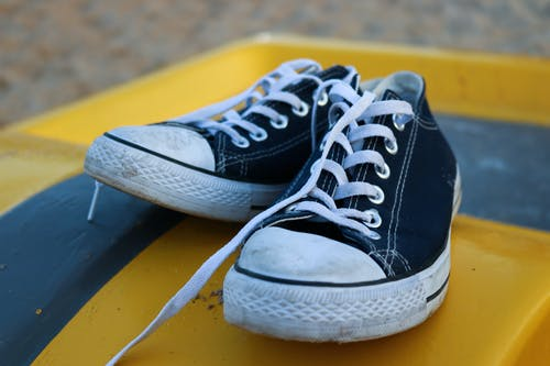 Free stock photo of art, blue, canon, converse