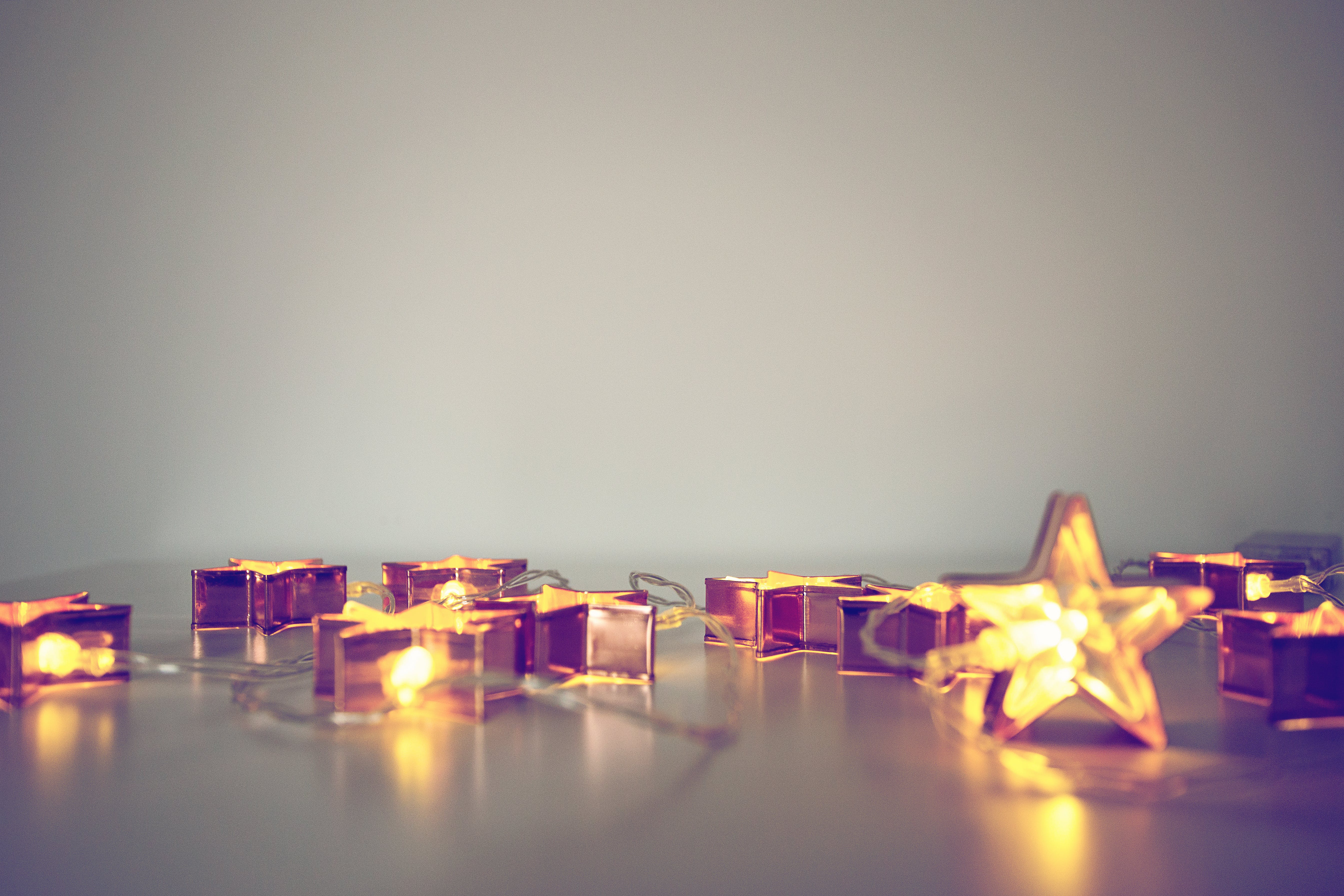 Free stock photo of backgrounds, christmas lights, electric light, stars