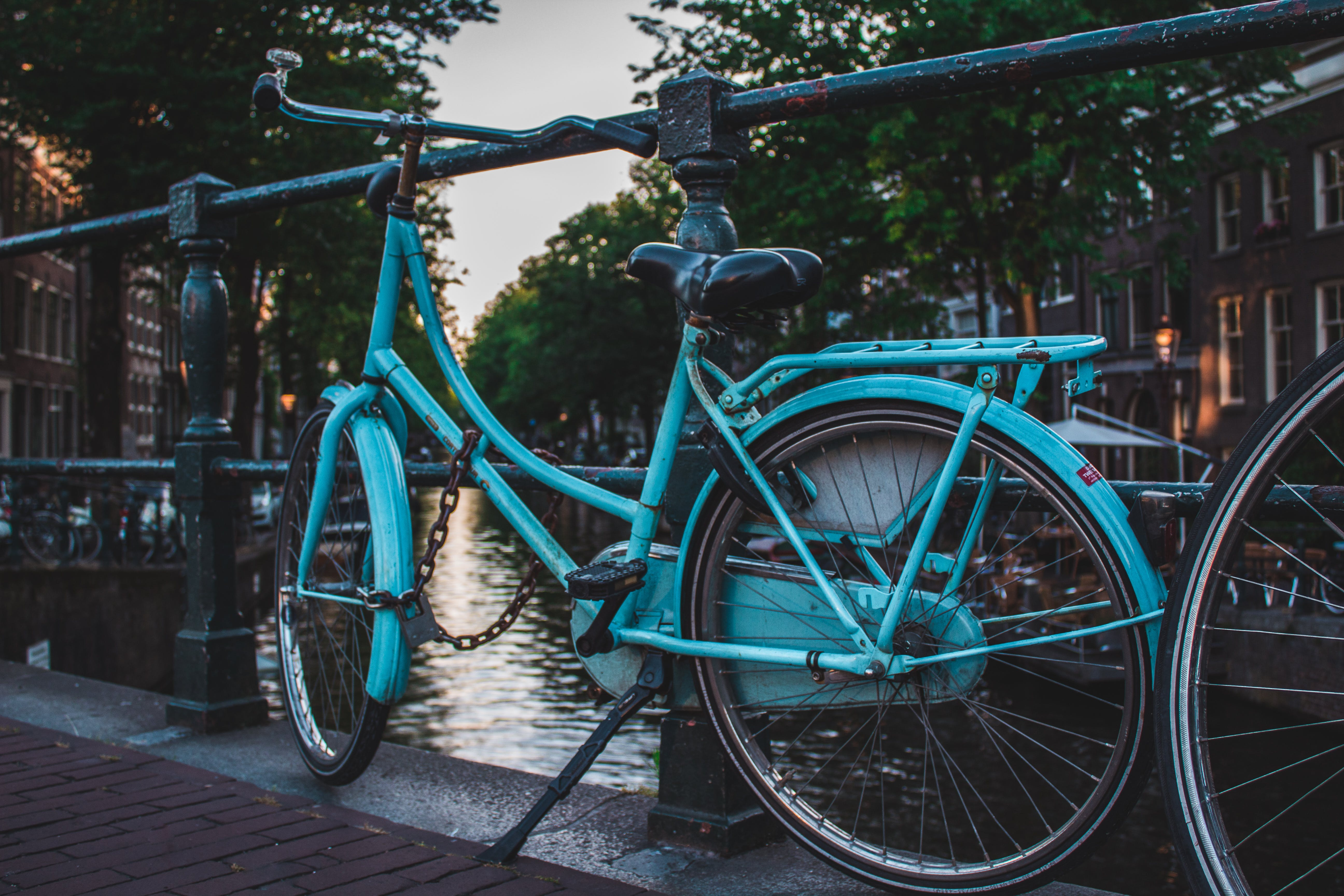 Blue Cruiser Bicycle Near River