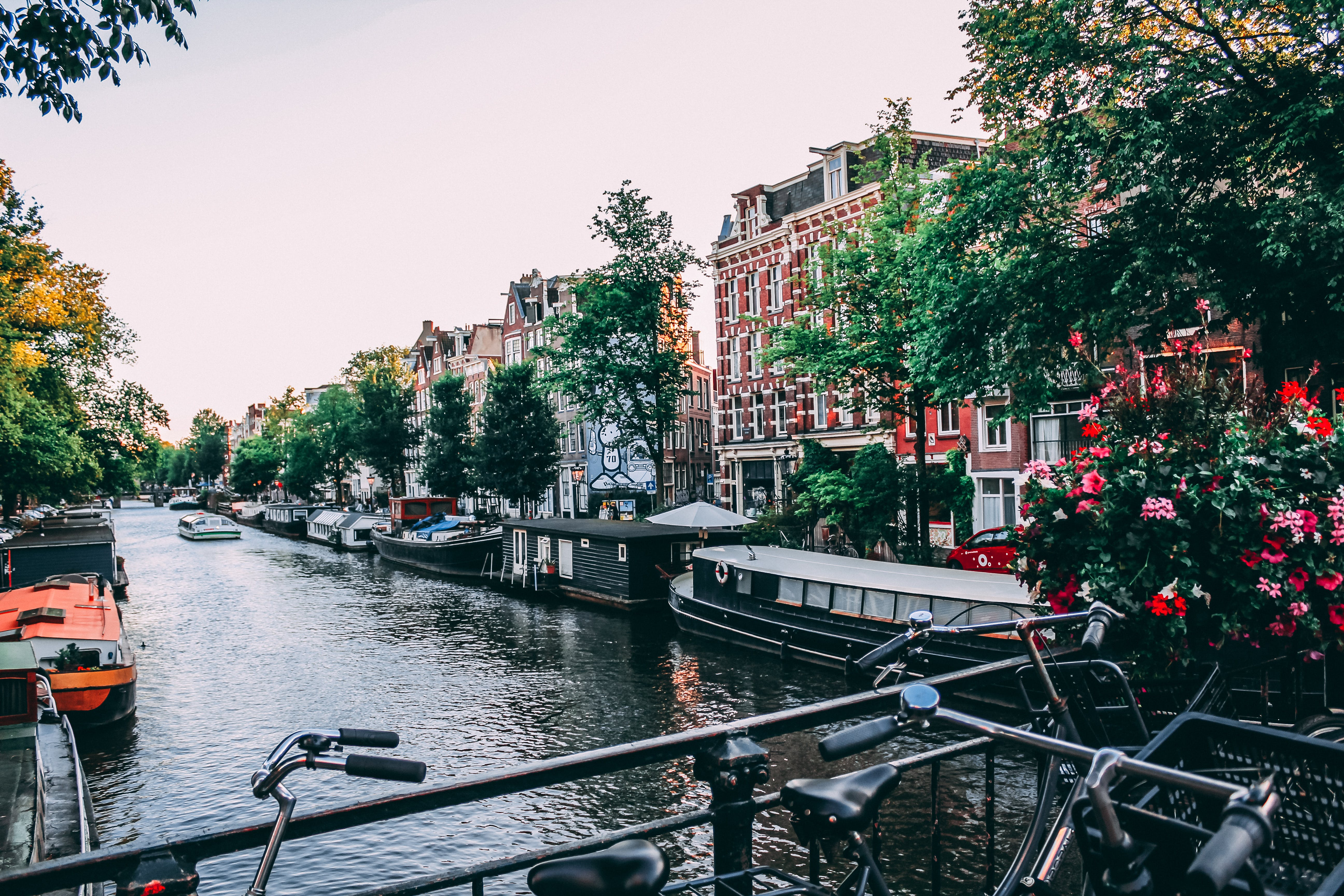 amsterdam, architecture, bicycles