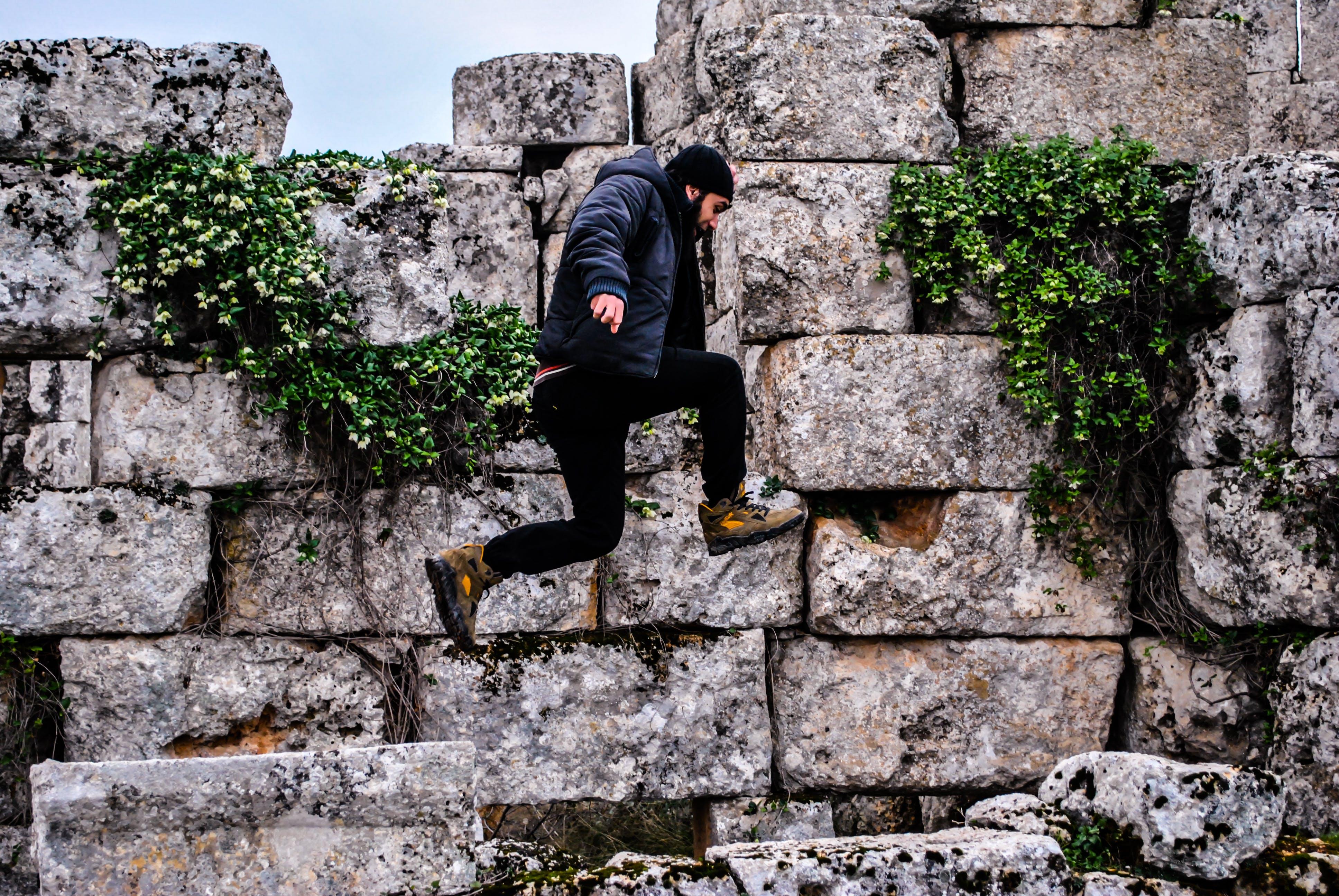 Free stock photo of jump, man, ruins, Tomb raider