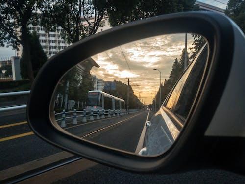 Free stock photo of car, mirror, reflect