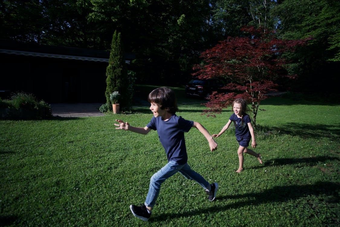 cánh đồng xanh, con gái, con trai