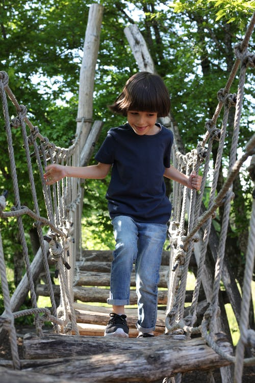 Free stock photo of baby, blue jeans, boy, jungle