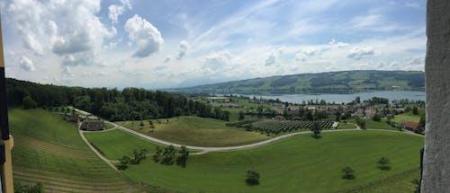 Kostenloses Stock Foto zu berg, der grünen wiese, himmel, natur