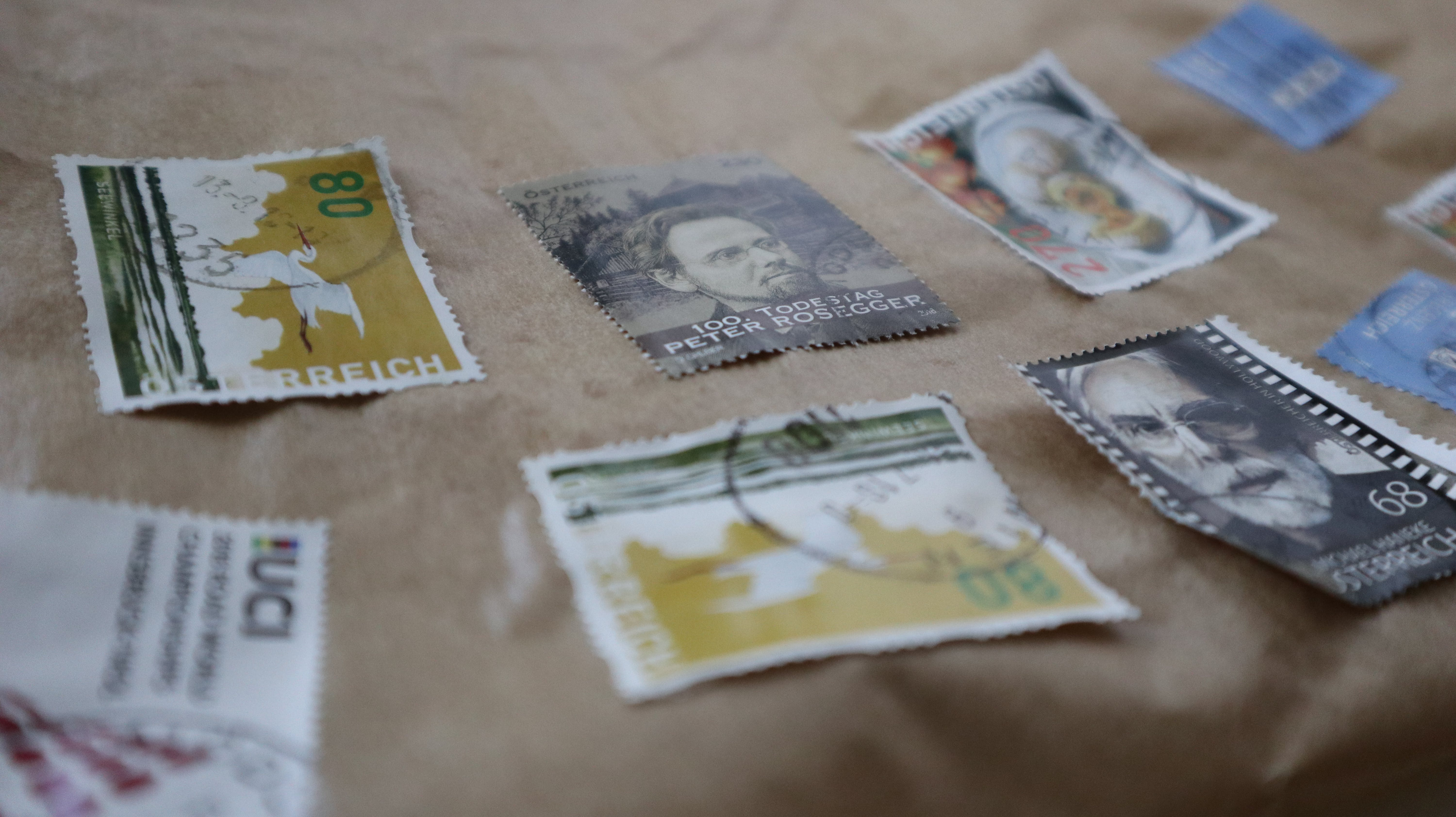 Free stock photo of stamp collection, stamps
