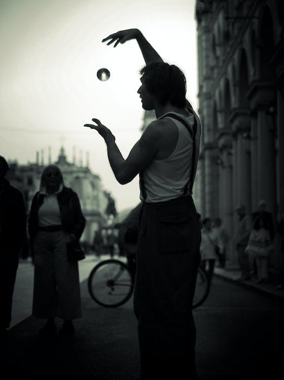 Free stock photo of artist, black and white, magic