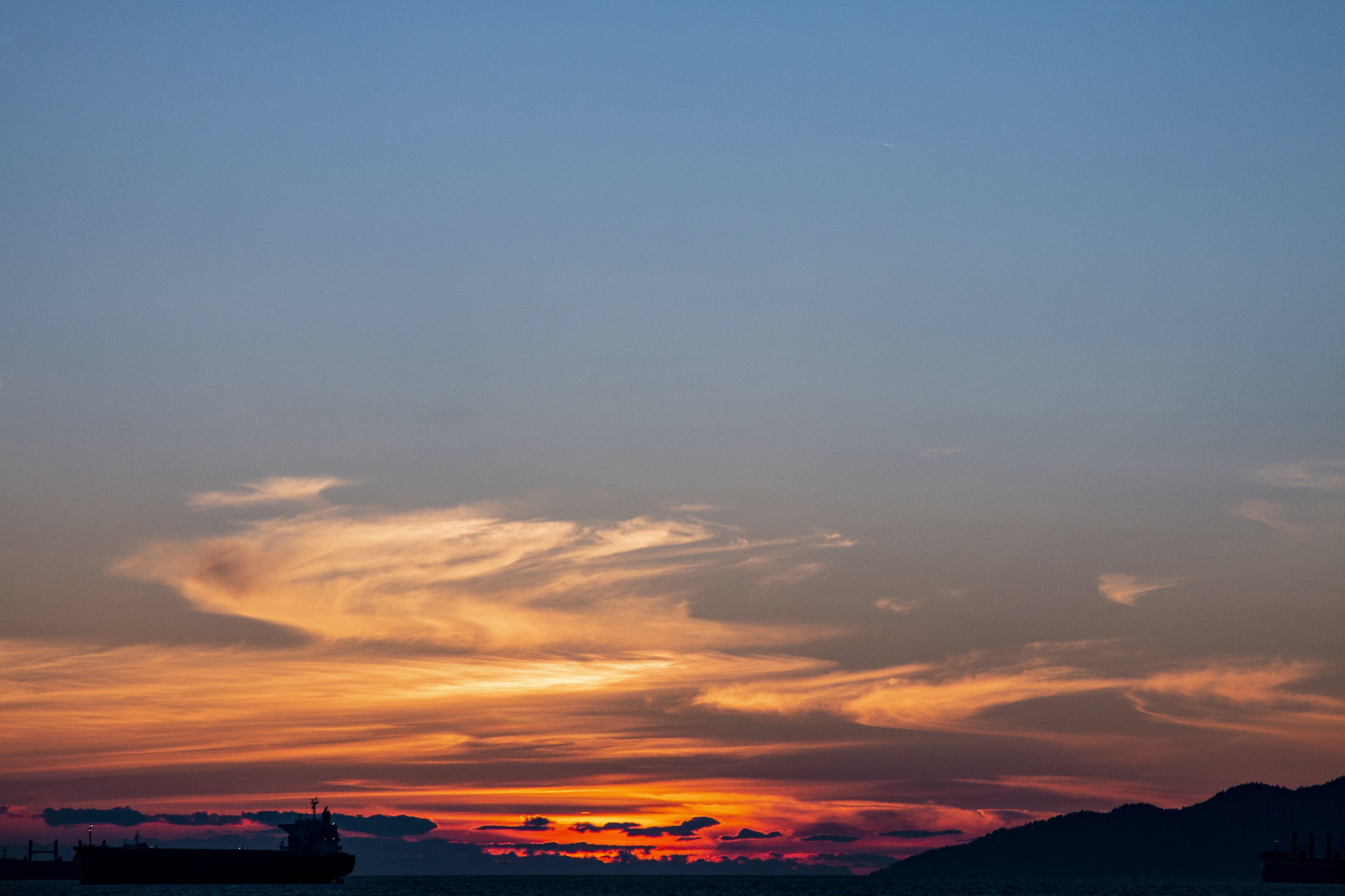 Free stock photo of sky, sunset, beach, clouds