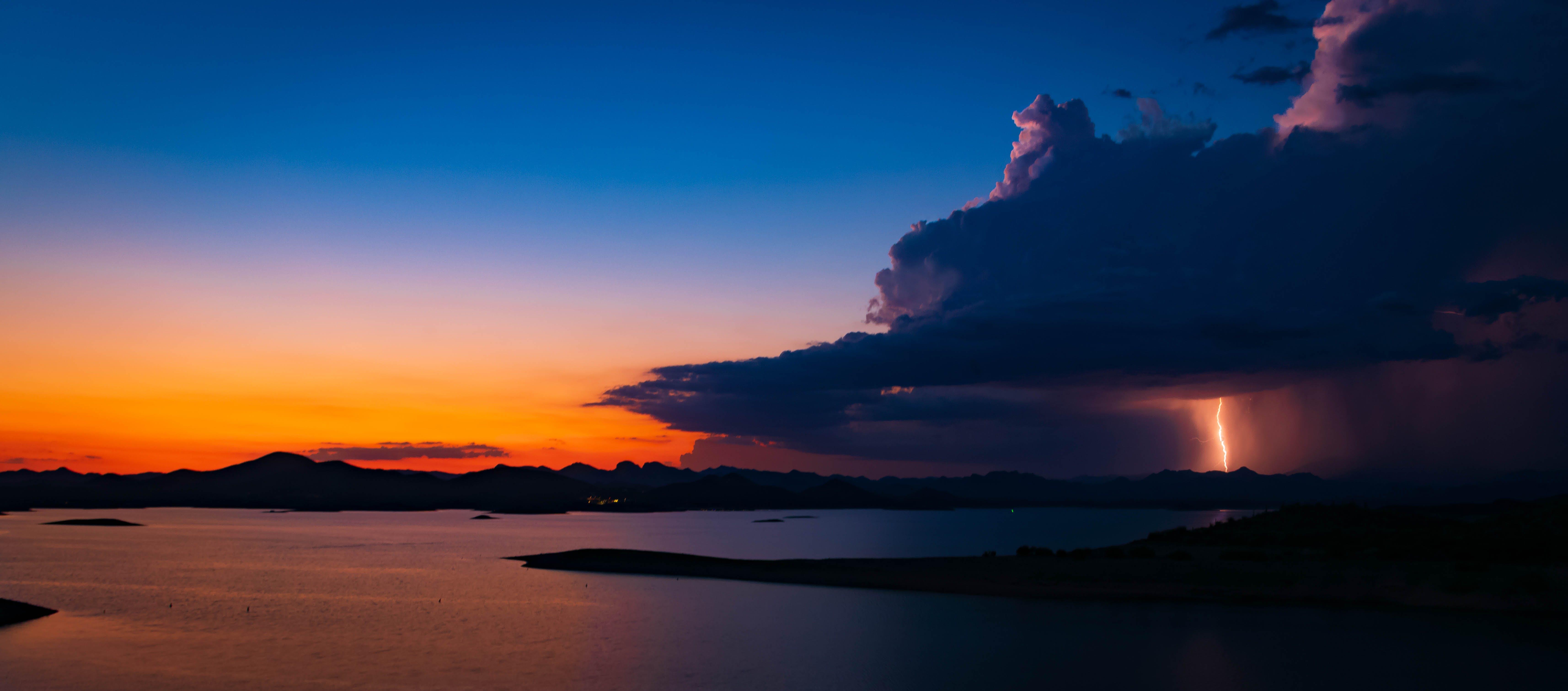 Free stock photo of arizona, lake, lake pleasant, monsoon
