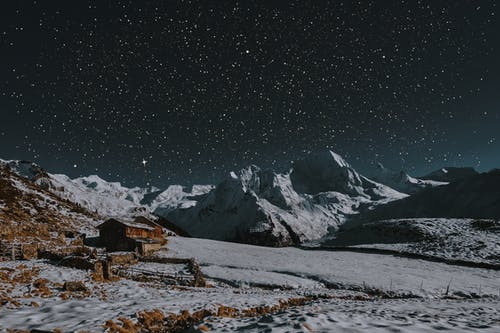 Základová fotografie zdarma na téma hory, hvězdná noc, hvězdná obloha, hvězdný