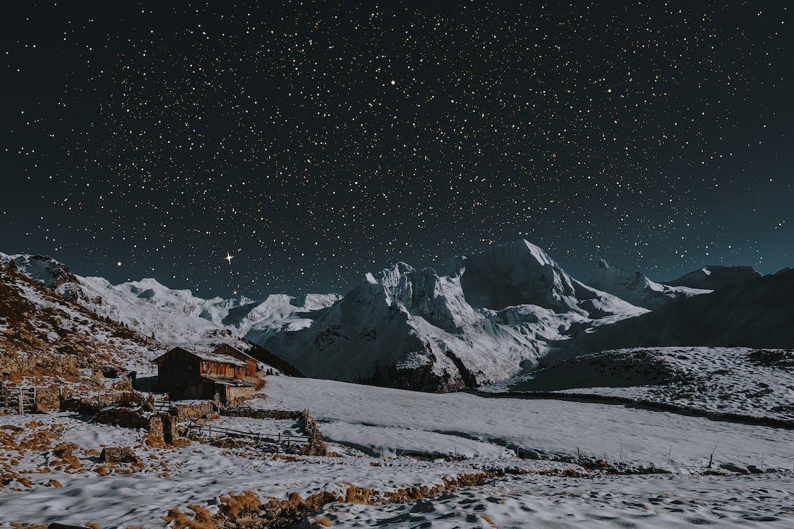 горы, живописный, заснеженные горы