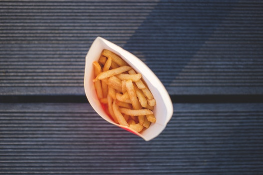 Potato Fries in High Angle Photography