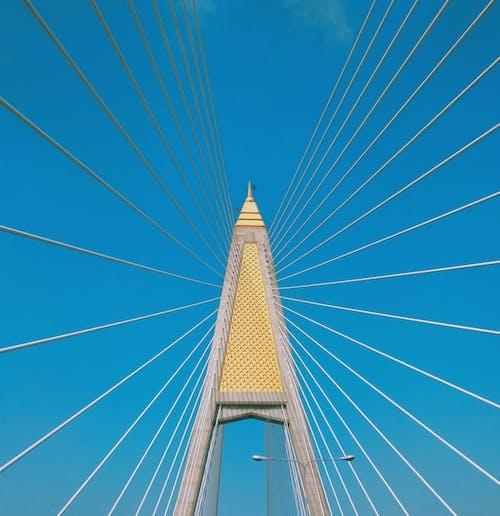 Free stock photo of blue, bridge, gold, road