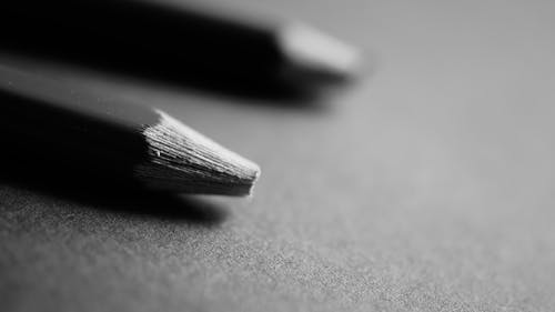 Free stock photo of black-and-white, broken, macro photography, pencils